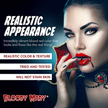 Bloody Mary Fake Blood Makeup Spray - 0.25oz - for Theater and Costume or Halloween Zombie, Vampire and Monster Dress Up