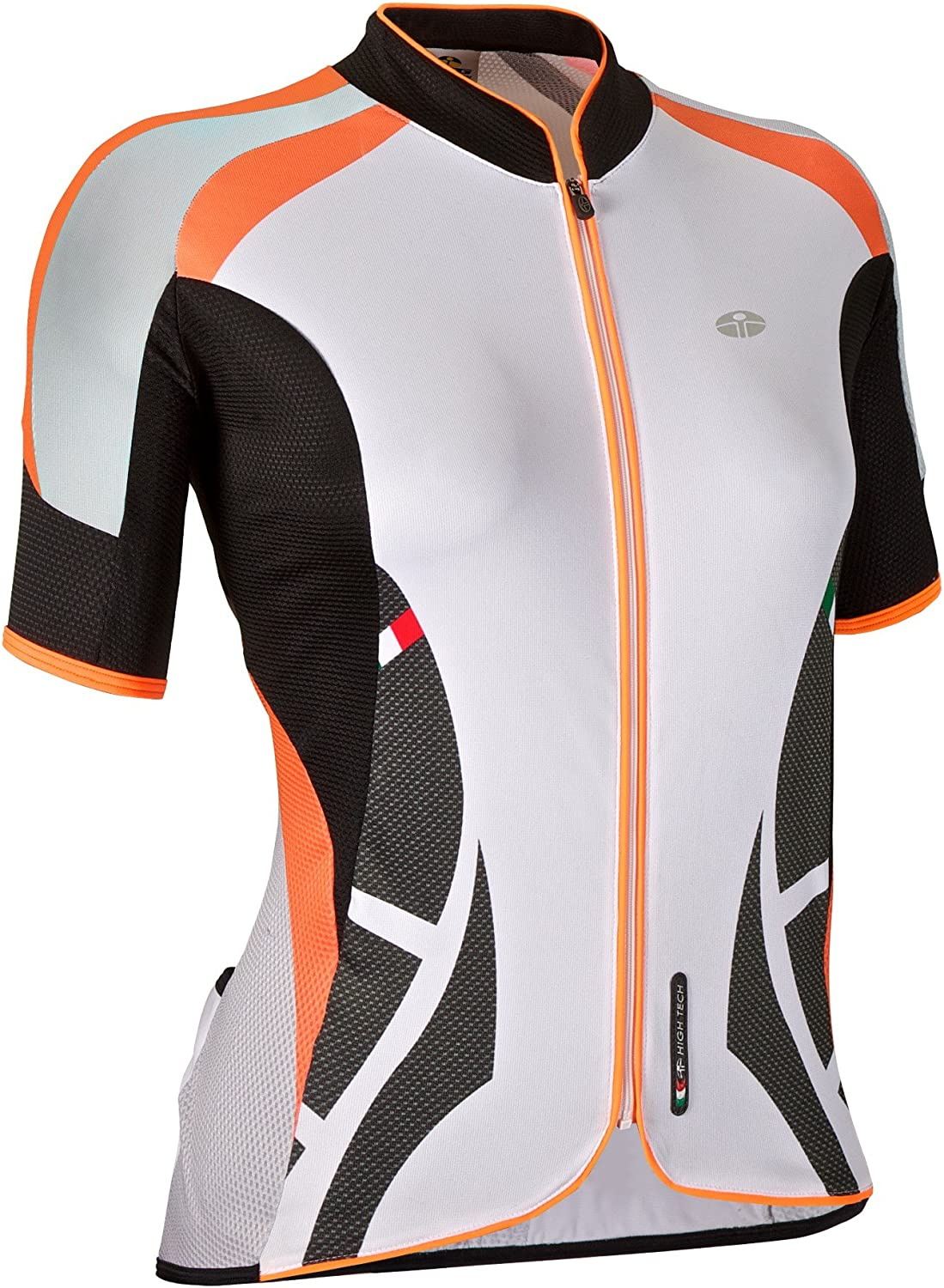 GSG Cristallo  Women′s Cycling TShirt  with Zip  Lycra  orange