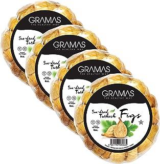 Gramas Natural Sun-Dried Figs in Garland Form, Vegan, Gluten-Free Calimyrna Figs, Non-GMO, No Added Sugar, No Sulfur, No P...