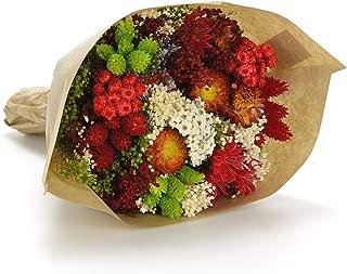 Bouquet-Fantasy- Sanremo flores secas de la Riviera dei Fiori Italia (Rojo)
