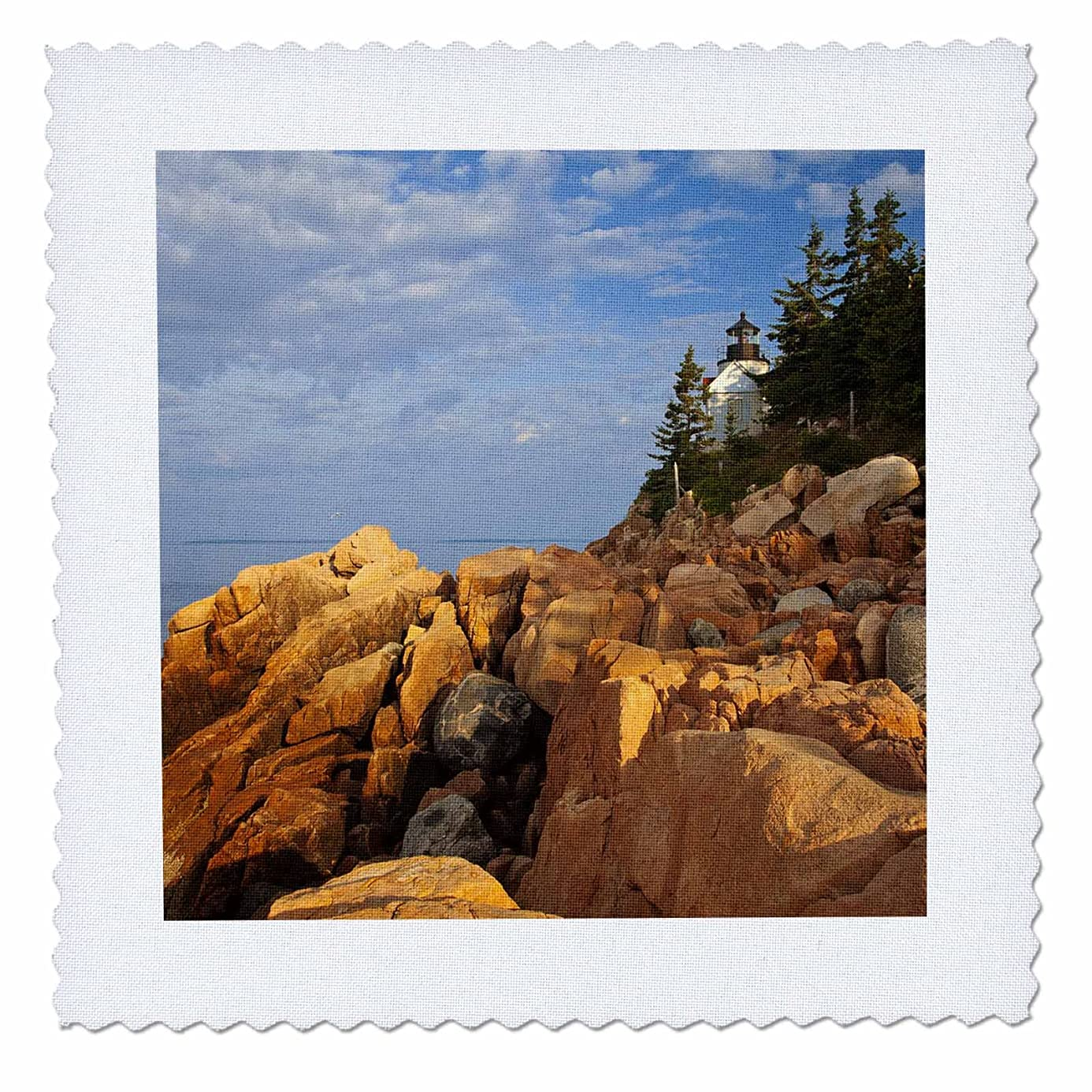 3dRose qs_90620_6 Bass Harbor Lighthouse, Acadia National Park, Maine - US20 CHA0018 - Chuck Haney - Quilt Square, 16 by 16-Inch tzu0096179