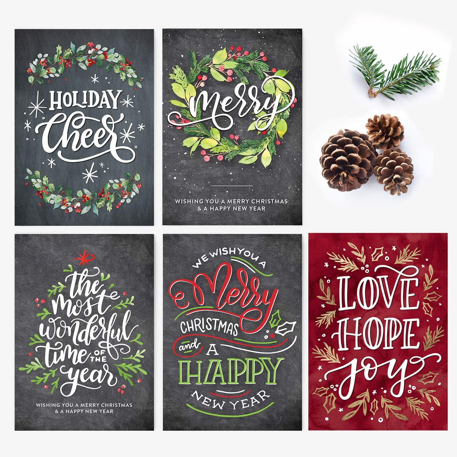 50 Holiday Ranking TOP7 Postcards Merry Christmas And Max 52% OFF New Year Happy A Hand