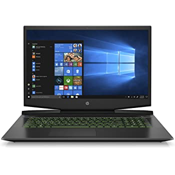 HP Pavilion 17-Inch Gaming Laptop, Intel Core i5-9300H, NVIDIA GeForce GTX 1650, 8GB RAM, 256GB Solid State Drive, Windows 10 (17-cd0020nr, Black)
