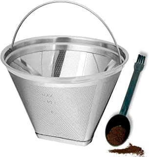 Reusable 4 Cone Coffee Filter Fit for Cuisinart Ninja Hamilton Beach Coffee Makers