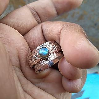 925 Sterling Silver Spinner Ring Jewelry, Labradorite Ring, Boho Ring, Meditation Ring, Handmade Ring, Spinning Ring, Anti...