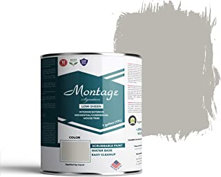 Montage Signature Paint Eco-Friendly, Low Sheen Interior/Exterior Paint, 1 Gallon, Pewter