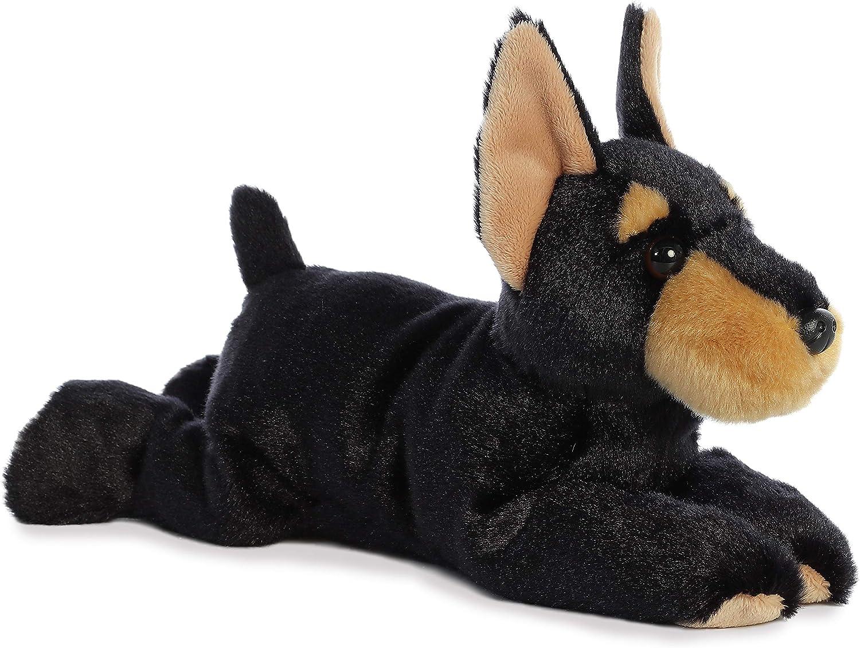 Aurora Duke Doberman Flopsie Plush Stuffed Animal 12