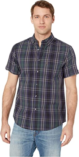 Short Sleeve End on End Plaid Shirt
