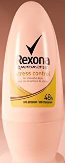 Rexona Body Roll on Deodorant for Women, Anti-Perspirant/Anit-Transpirant (3X50ml/1.7oz,Stress Control)
