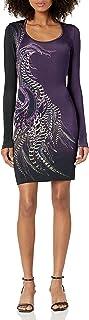 Just Cavalli womens Just Cavalli Womens Phaesant Paisley Print Dress Dress