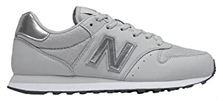 New Balance Stitched Detail Contrast Side Logo Lace-Up Shoes For Women