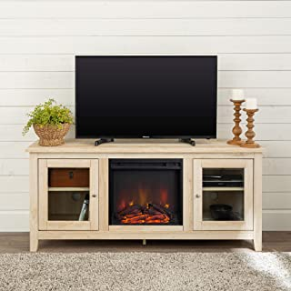 Walker Edison Furniture Company Traditional Wood Fireplace Stand for TV's up to..