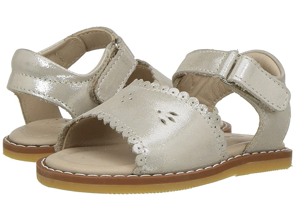 Elephantito Classic Sandal w/Scallop (Toddler) (Talc) Girls Shoes