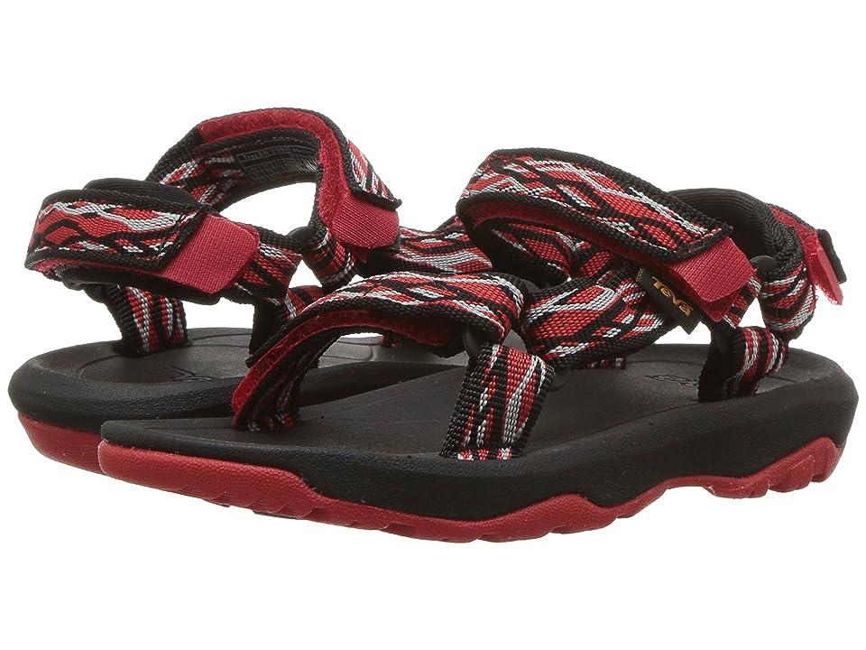 d9ba6f5f5420 Teva Kids Hurricane XLT 2 (Toddler) (Delmar Black Red) Boys Shoes