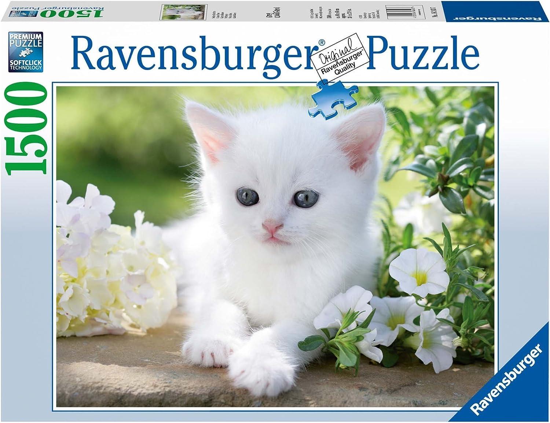 RAVENSBURGER - RAVENSBURGER Puzzle 1500 gattino bianco