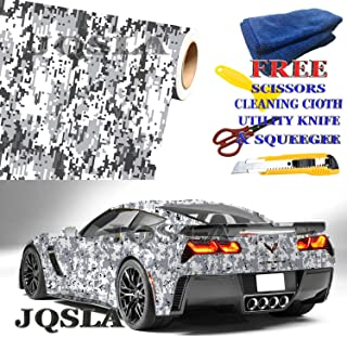 Free Tools DIGITAL SNOW Camouflage Vinyl Car Wrap Film Sheet