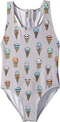 Stella McCartney Kids - Imogen Ice Cream Cones Printed Swimsuit (Toddler/Little Kids/Big Kids)