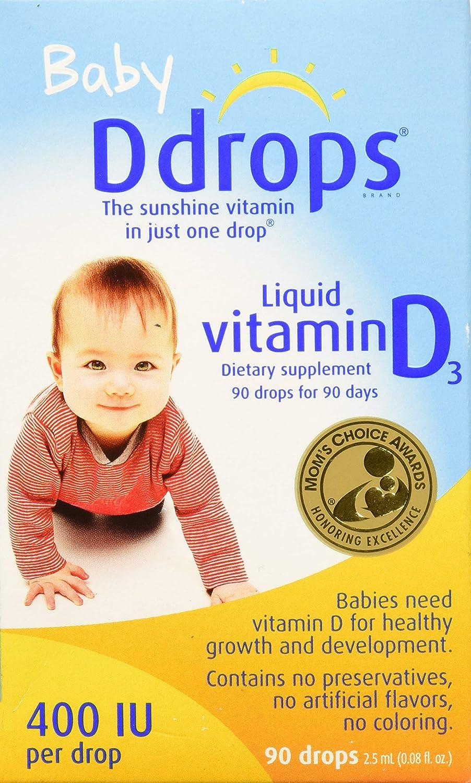 Ddrops Baby Liquid Vitamin D3 400 IU mL 90 Tampa Mall 2.50 Max 61% OFF Drops