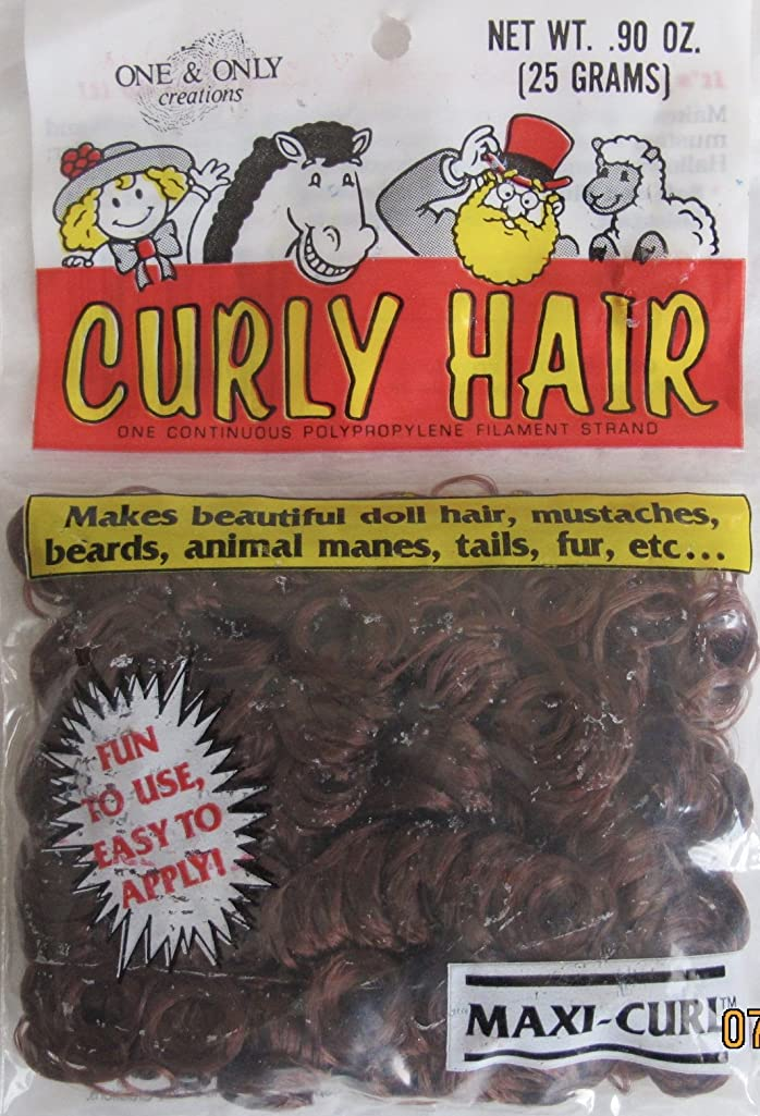 One & Only Craft PACK of .90 OZ. (25 Grams) CURLY