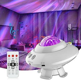 پروژکتور استار پروژکتور Aurora Night Light UFO شکل گلکسی پروژکتور با بلندگوی بلوتوث داخلی و کنترل از راه دور برای مهمانی ، اتاق بازی ، اتاق خواب بچه ها