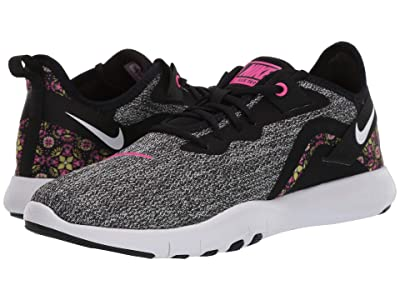 Nike Flex TR 9 Print (Black/White/Laser Fuchsia) Women