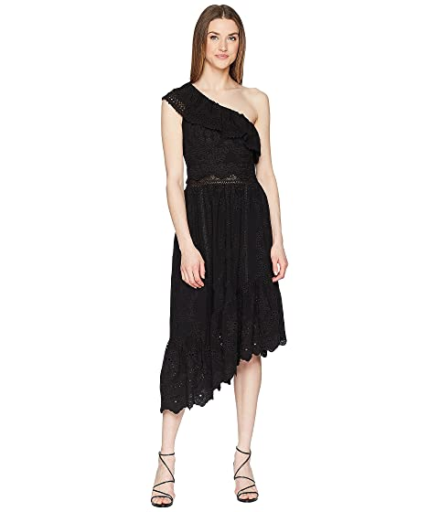 The Kooples Asymmetrical Cotton Dress with Fancywork Details
