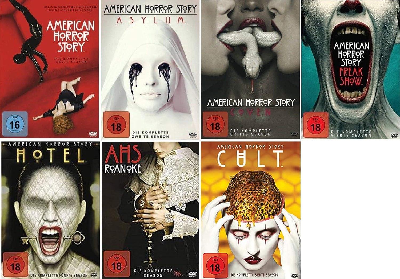 American Horror Story Staffel 1-7 (1+2+3+4+5+6+7) [DVD Set]: Amazon.de:  Jessica Lange, Evan Peters, Connie Britton, Dylan McDermott, Alfonso  Gomez-Rejon, David Semel: DVD & Blu-ray