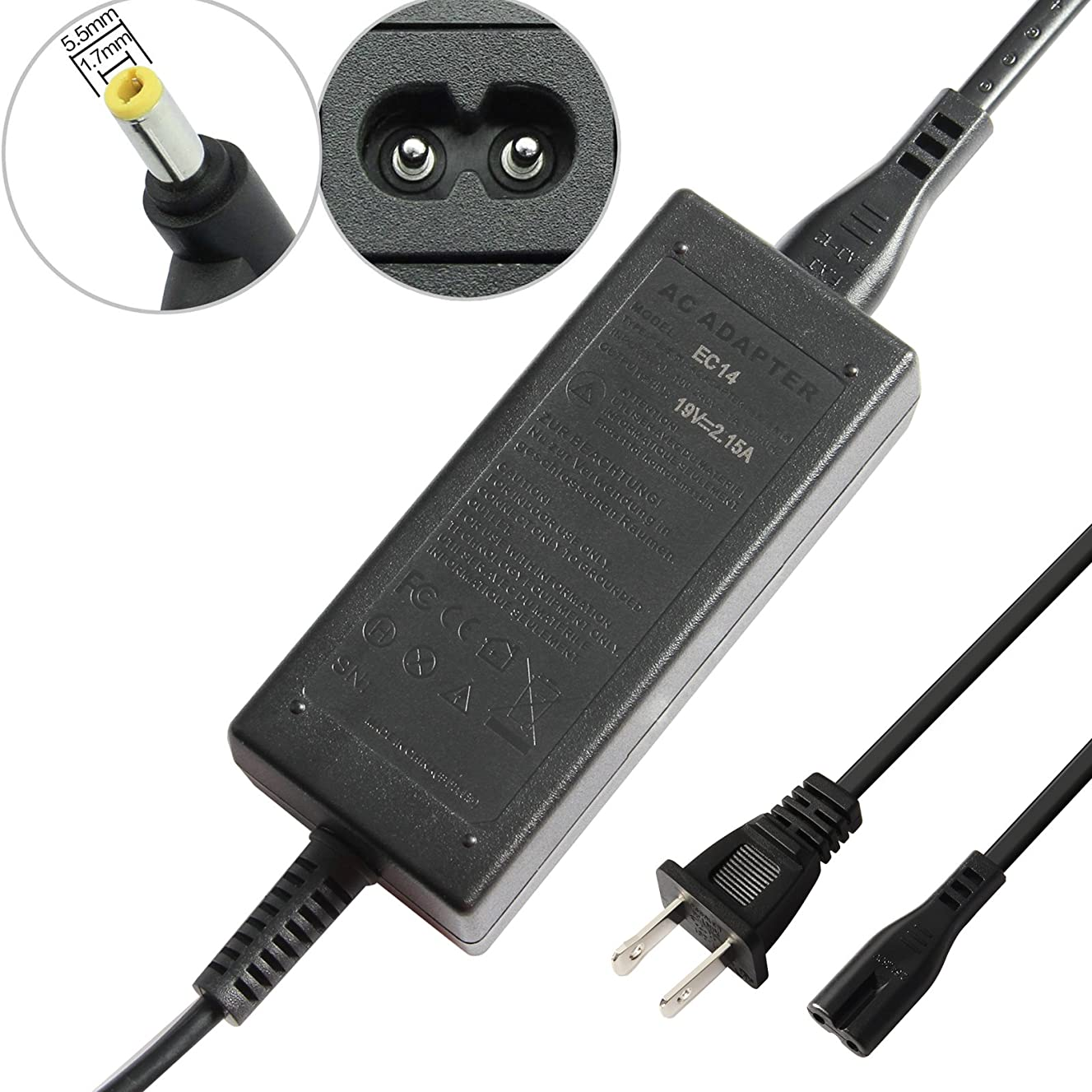 "Fancy Buying 40W AC Adapter Chager for Acer Aspire One 10.1"" 8.9"" Netbook A110 A150 D150 A0A110 A0A150 D250 ZG5 AO522 AO722 Series Acer Chromebook C700 C710 AC700 ADP-40THA + Power Supply Cord"