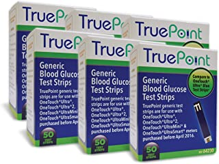 True Point Generic Test Strips 300 Count for Use with One Touch Ultra, Ultra 2 and Ultra Mini Meter.
