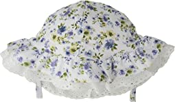 Mud Pie Floral Eyelet Sun Hat (Infant)