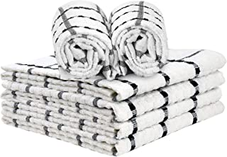 """Talvania Kitchen Towels 100% Cotton Dobby Weave Terry Towel Set, 15"""" X 25"""", 6 Pack Soft and Absorbent Multipurpose Dish Cl..."""