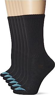 Hanes Women's Ultimate Lightweight Vent Crew Sock 6-Pack, black