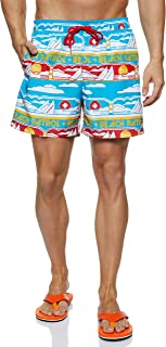 Tommy Hilfiger Men's SF MEDIUM DRAWSTRING-PRINT Swim Short