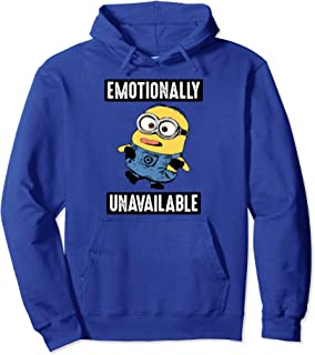 Minions Emotionally Unavailable Goofy Portrait Pullover Hoodie