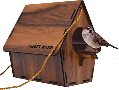 Deskart Bird House for Balcony and Garden Hanging for Sparrow, Hummingbird, Kingfisher Bird Nest for Balcony Made wit...