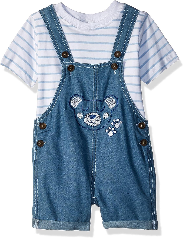 Nannette baby-boys 2 Piece Shortall Set