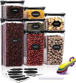 Aitsite Boîte de Rangement Cuisine Lot de 7 Boîtes à Céréales sans BPA Boîte de Conservation Alimentaire Hermétique en Pla...