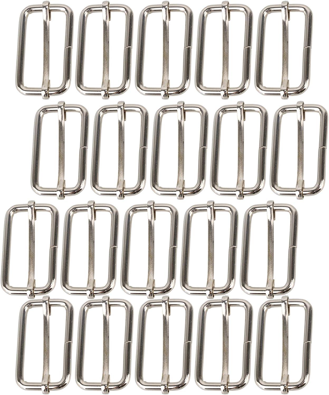 RDEXP Metal Slides 38mm Triglides Buckles Roller Pin Webbing Bel