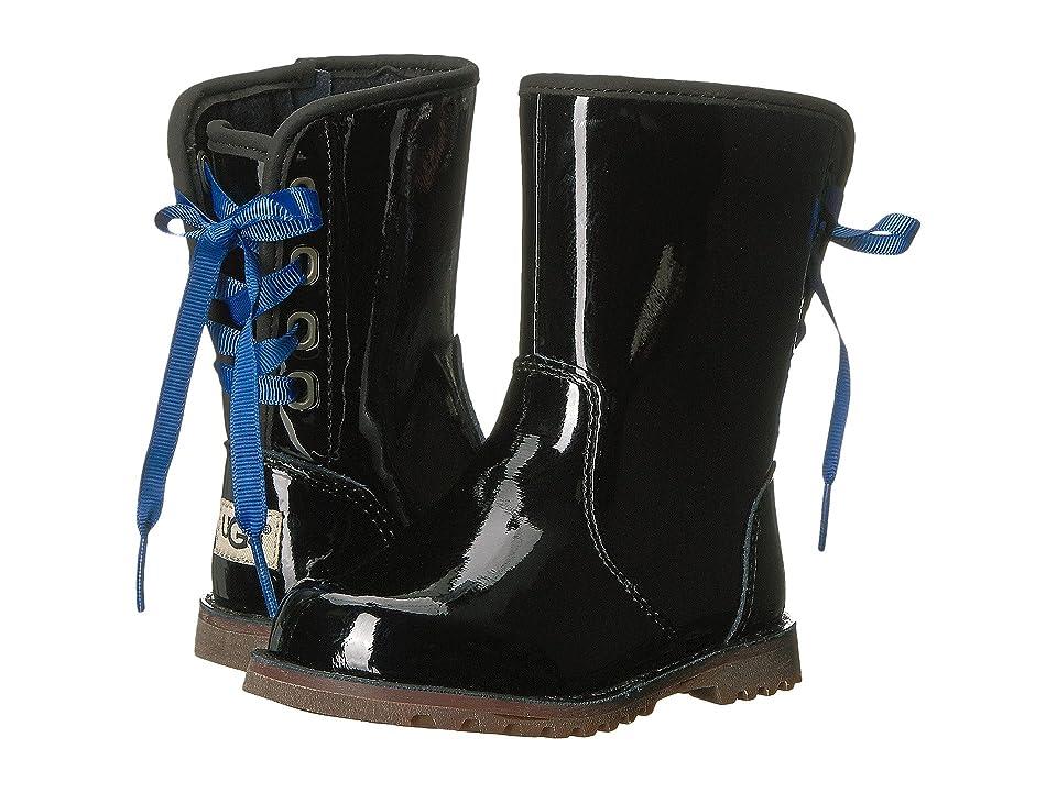 UGG Kids Corene Patent (Toddler/Little Kid) (Black) Girls Shoes