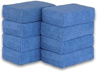 Simple Houseware 8 Pack - Microfiber Ultra-Soft Applicator Foam, Blue