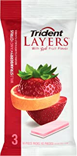 Trident Layers Sugar Free Gum (Wild Strawberry & Tangy Citrus, 42-Piece, 20-Pack)