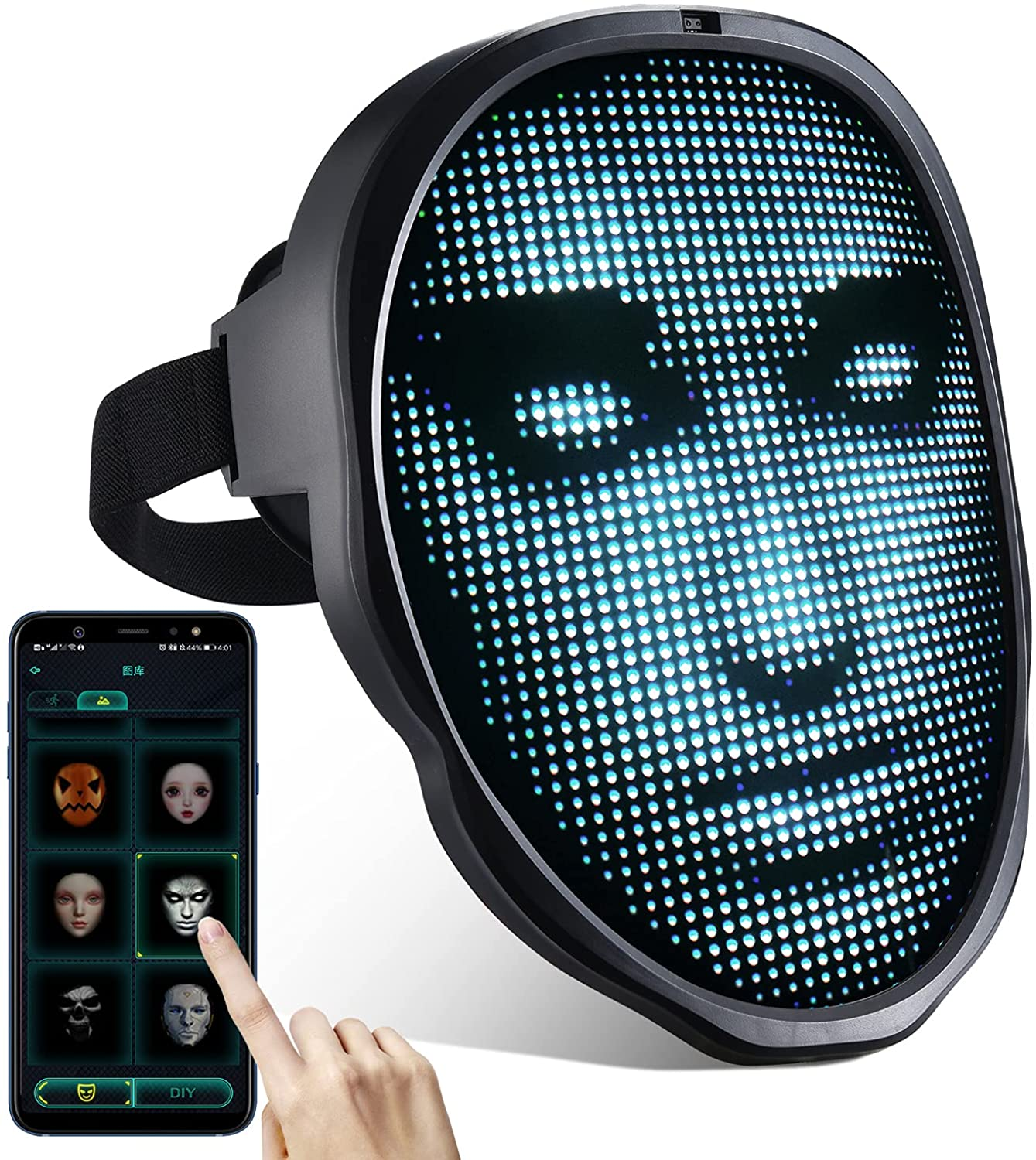 Led Mask with Programmable Bluetooth fo Louisville-Jefferson County Mall Face up Light Very popular