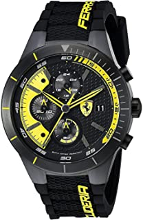 Ferrari Men's Black Dial Rubber Band Watch - 830261