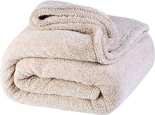lattefine 毛布 シングル ブランケット柔軟軽量発熱 吸湿/静電気防止/洗える140x200cm (ベージュ)