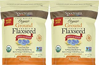 Spectrum Essentials Organic Ground Flaxseed, 24 Ounce - 2 Pack