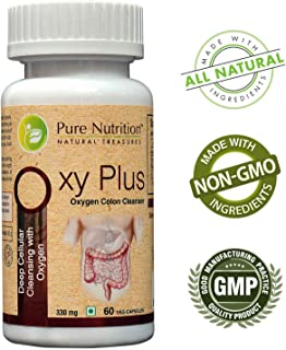 Pure Nutrition Oxy Plus - Oxygen Detox Cleanse (Deep Cellular Cleansing with Oxygen) - 60 Capsules