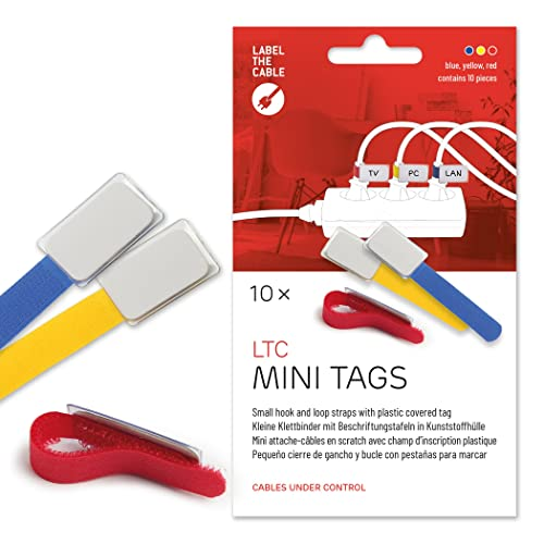 *NEW* Bobino CATAG1 Cable Tag Assorted Colours Pack of 10
