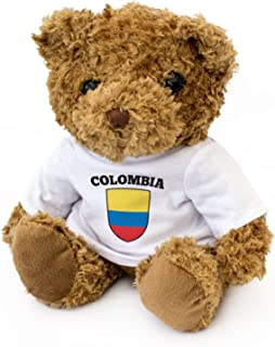 Colombia Flag Teddy Bear - Cute and Cuddly - Colombian Fan Gift Present
