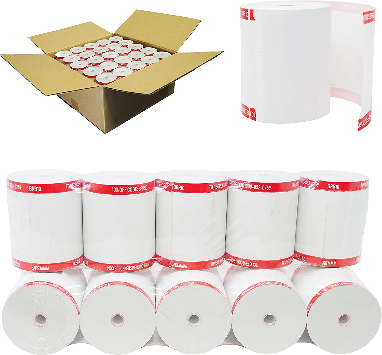NCR 856348 Thermal Receipt Paper 3-1 White Popularity Rolls Sales 8