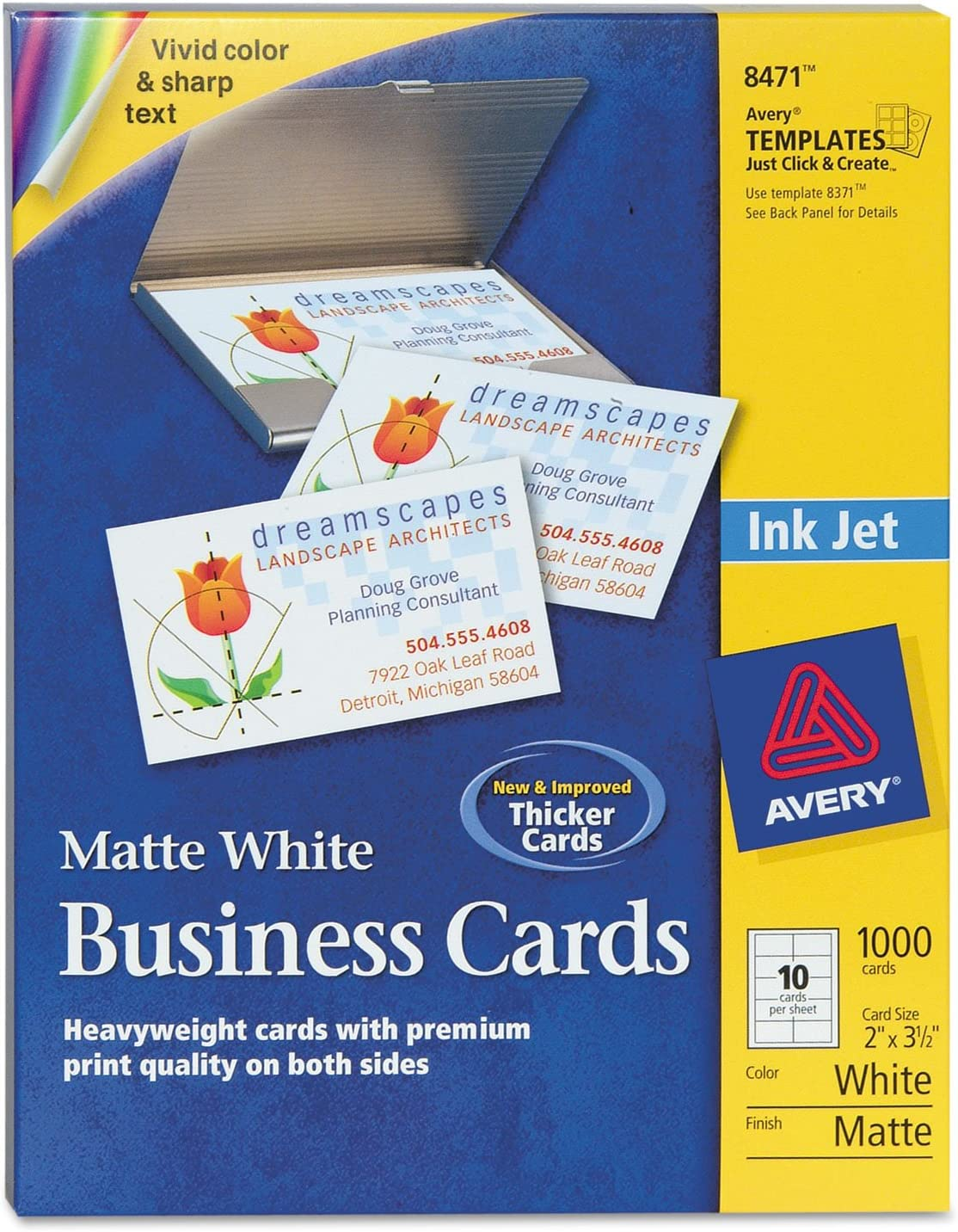 Avery 8471 Brand new Microperf Business Cards Inkjet 2 Wh x 3-1 Matte Lowest price challenge